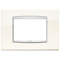Ramka Vimar Eikon Chrome Classic, arktyczny biały, metal lakierowany, 3M