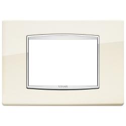 Ramka Vimar Eikon Chrome Classic,antyczny biały, metal lakierowany, 3M,