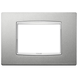 Ramka Vimar Eikon Chrome Classic, srebrny mat, metal lakierowany, 3M