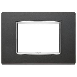 Ramka Vimar Eikon Chrome Classic, antracytowy mat, metal lakierowany, 3M