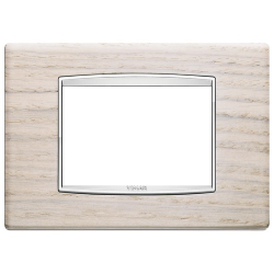 Ramka Vimar Eikon Chrome Classic, Biały Dąb - Drewno 3M