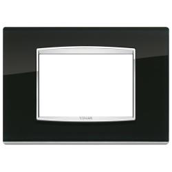 Ramka Vimar Eikon Chrome Classic, Black ice - czarne szkło 3M