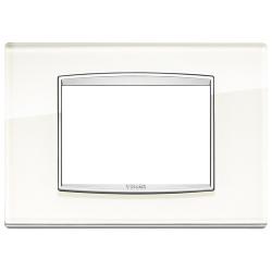 Ramka Vimar Eikon Chrome Classic, White ice - białe szkło 3M