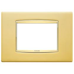 Ramka Vimar Eikon Chrome Classic, satynowe złoto, metal rafinowany, 3M