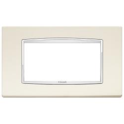 Ramka Vimar Eikon Chrome Classic,antyczny biały, metal lakierowany, 4M