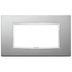 Ramka Vimar Eikon Chrome Classic, srebrny mat, metal lakierowany, 4M