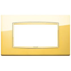 Ramka Vimar Eikon Chrome Classic, Polerowane złoto, metal rafinowany, 4M