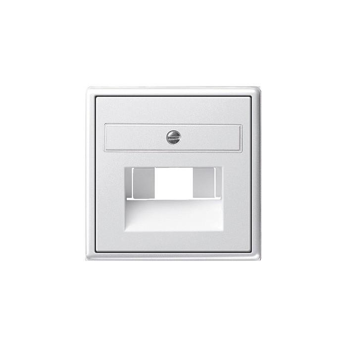 Gniazdo internetowe kat.5 ekran. pojedyncze białe System 55 GIRA
