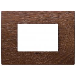Ramka ozdobna, lite drewno, 3M, Orzech amerykański, Vimar Eikon EXÉ