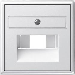 Gniazdo internetowe kat.5 ekran. podwójne białe System 55 GIRA