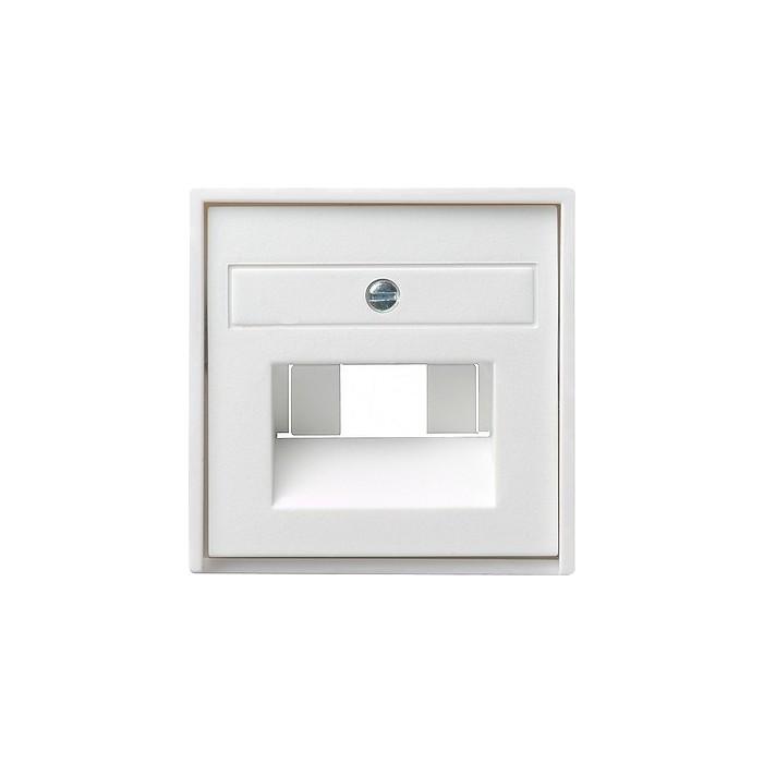 Gniazdo internetowe kat.5 ekran. podwójne białe matowe System 55 GIRA