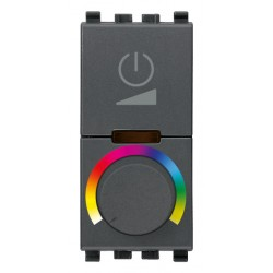 Sciemniacz RGB z potencjometrem, 230V, 1M, antracyt, Vimar EIKON