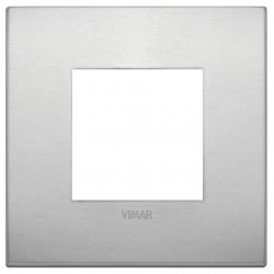 Ramka ozdobna, Naturalne aluminium, 2M, Vimar Eikon Arké Classic
