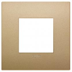 Ramka ozdobna, lakierowany technopolimer, 2M, Matowe złoto, Vimar Eikon Arké Classic
