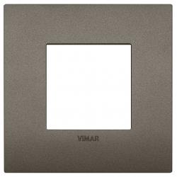 Ramka ozdobna, lakierowany technopolimer, 2M, Metal, Vimar Eikon Arké Classic