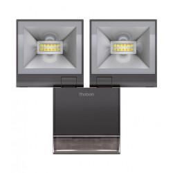 2 Reflektory LED z czujnikiem ruchu, czarny, theLeda S20, Theben