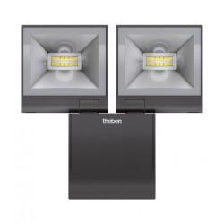 2 Reflektory LED, czarny, theLeda S20L, Theben