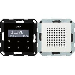 Radio pt. RDS System 55 biały matowy GIRA