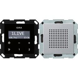Radio pt. RDS System 55 kolor alu GIRA