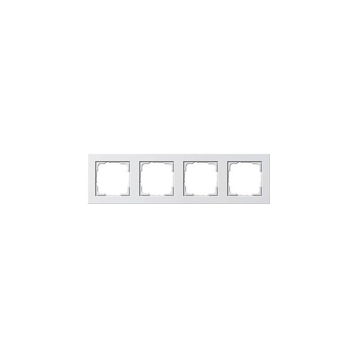 Ramka poczwórna Gira E2 biały połysk GIRA E2