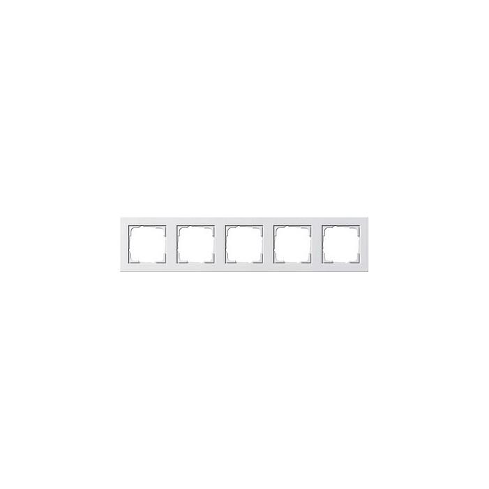 Ramka pięciokrotna Gira E2 biały połysk GIRA E2