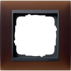 Ramka pojedyncza Gira Event Opaque mat ciemnobrązowy
