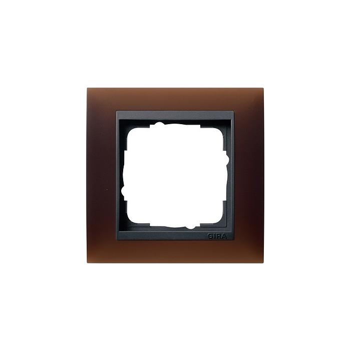 Ramka pojedyncza (do antracytowych środków), Gira Event Opaque mat ciemnobrązowy