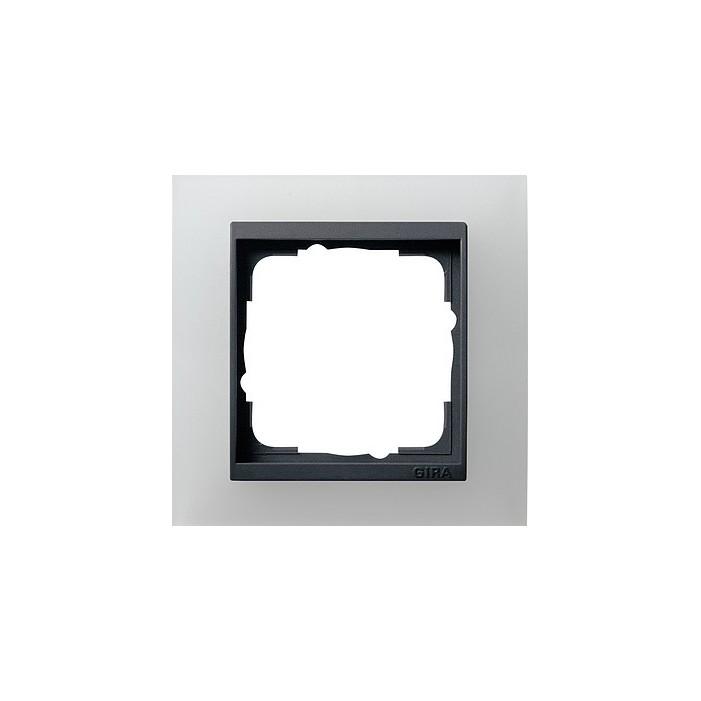 Ramka pojedyncza (do antracytowych środków), Gira Event Opaque biały