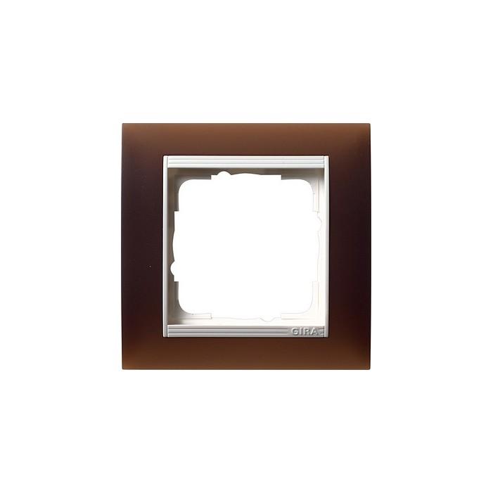 Ramka pojedyncza (do białych, matowych środków), Gira Event Opaque mat ciemnobrązowy