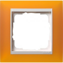 Ramka pojedyncza (do białych, matowych środków), Gira Event Opaque mat. bursztynowy