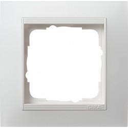 Ramka pojedyncza (do białych, matowych środków), Gira Event Opaque biały