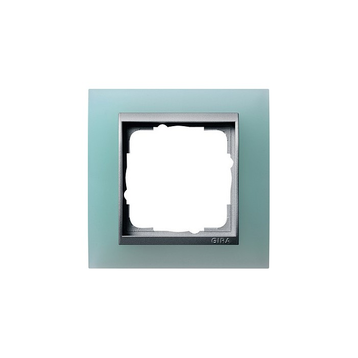 Ramka pojedyncza (do aluminiowych środków), Gira Event Opaque seledynowe
