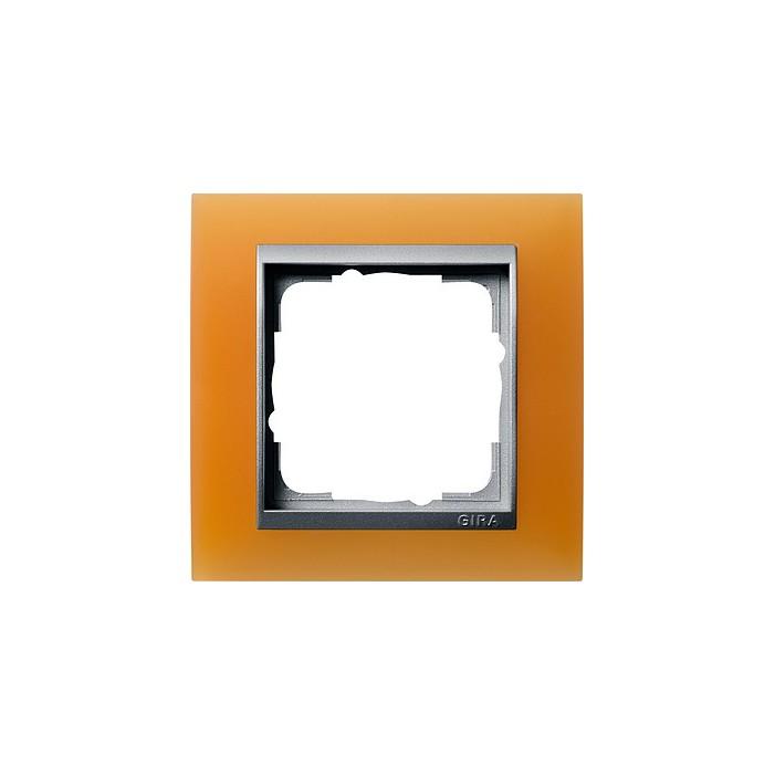 Ramka pojedyncza (do aluminiowych środków), Gira Event Opaque pomarańczowa