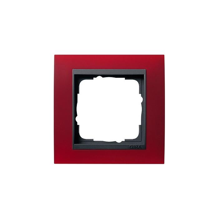 Ramka pojedyncza (do antracytowych środków), Gira Event Opaque czerwony