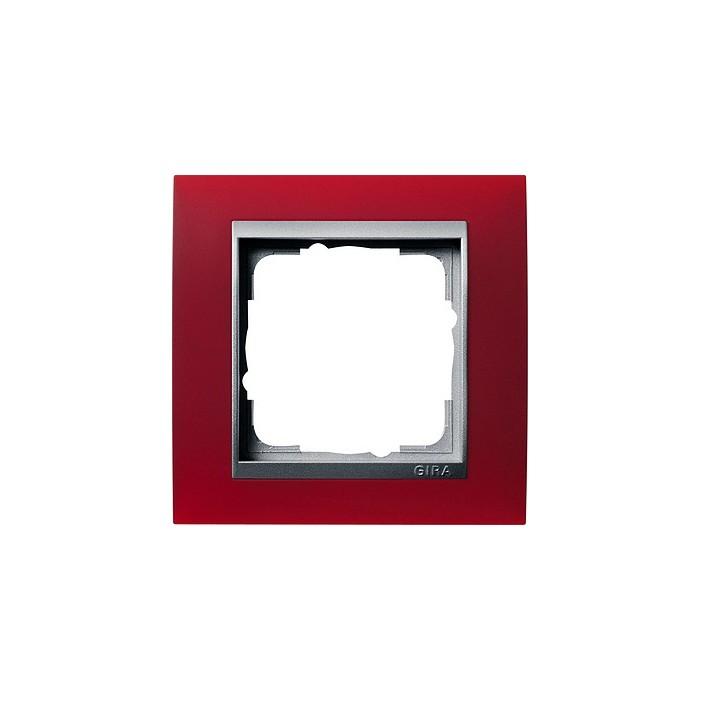 Ramka pojedyncza (do aluminiowych środków), Gira Event Opaque czerwony