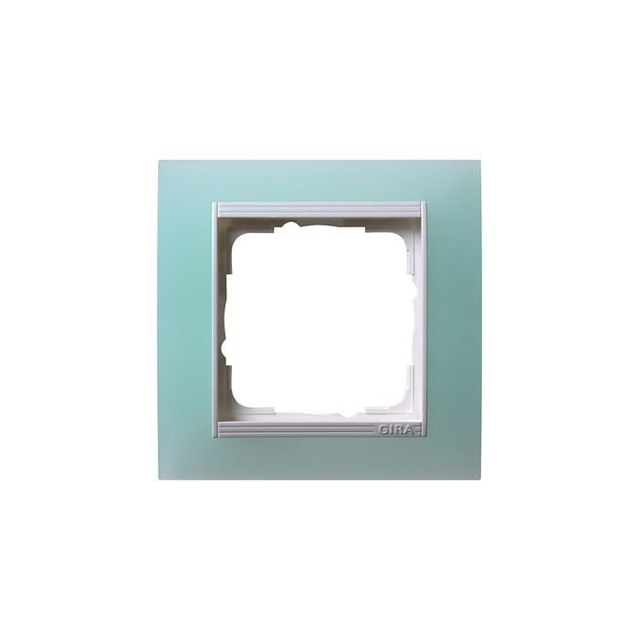 Ramka pojedyncza (do białych, matowych środków), Gira Event Opaque seledynowe