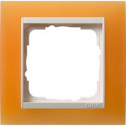 Ramka pojedyncza (do białych, matowych środków), Gira Event Opaque pomarańczowa
