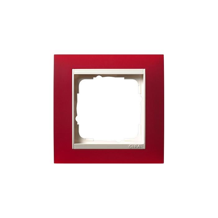 Ramka pojedyncza (do białych, matowych środków), Gira Event Opaque czerwony