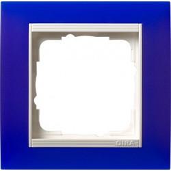 Ramka pojedyncza (do białych, matowych środków), Gira Event Opaque niebieski