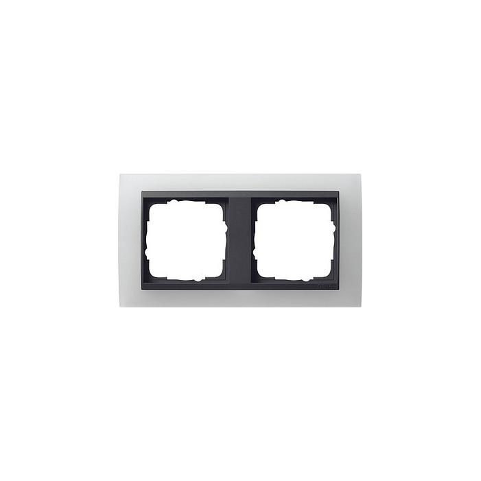 Ramka podwójna (do antracytowych środków), Gira Event Opaque biały