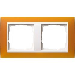 Ramka podwójna (do białych, matowych środków), Gira Event Opaque mat. bursztynowy