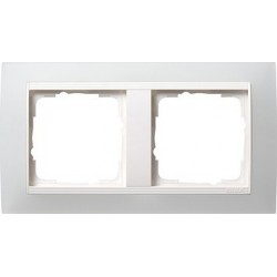 Ramka podwójna (do białych, matowych środków), Gira Event Opaque biały