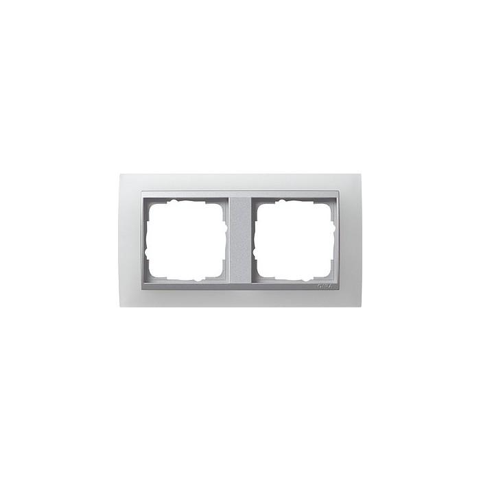 Ramka podwójna (do aluminiowych środków), Gira Event Opaque biały