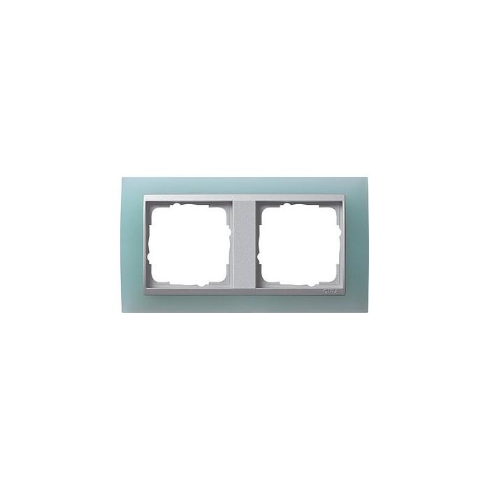 Ramka podwójna (do aluminiowych środków), Gira Event Opaque seledynowe