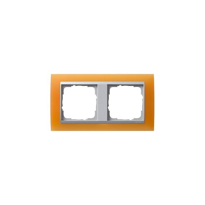Ramka podwójna (do aluminiowych środków), Gira Event Opaque pomarańczowa