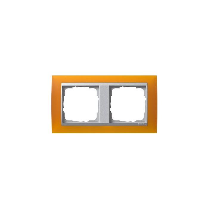 Ramka podwójna (do aluminiowych środków), Gira Event Opaque mat. bursztynowy