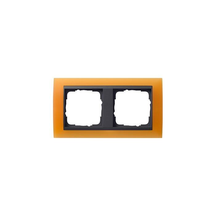 Ramka podwójna (do antracytowych środków), Gira Event Opaque pomarańczowa