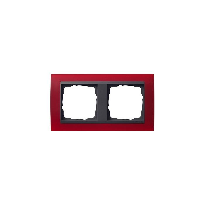 Ramka podwójna (do antracytowych środków), Gira Event Opaque czerwony