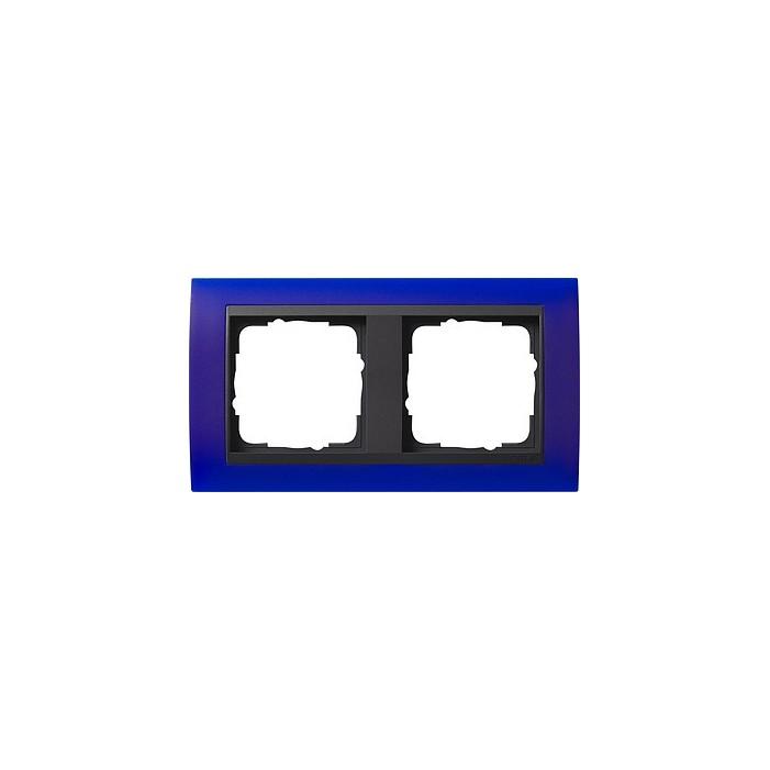 Ramka podwójna (do antracytowych środków), Gira Event Opaque niebieski
