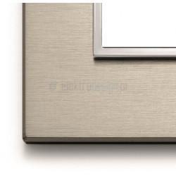 Ramka ozdobna 8(4+4)M aluminium neutral bronze VIMAR EIKON EVO